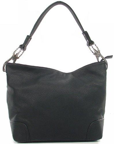 Simple Classic Everyday Hobo/Handbag – Black, Bags Central