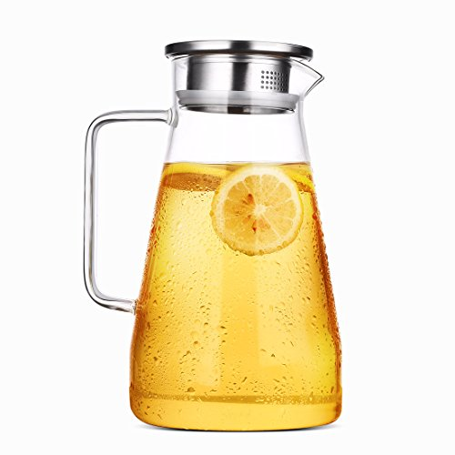 glass 2 quart pitcher with lid - 9