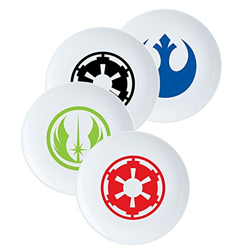 Vandor Star Wars 4 Piece 8 Inch Ceramic Salad Plate Set (99837)