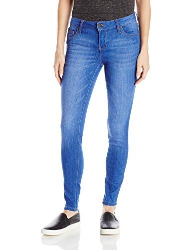 Celebrity Pink Jeans Women's Infinite Stretch Short Inseam Skinny Jeans, Blue Lagoon Wash, 7