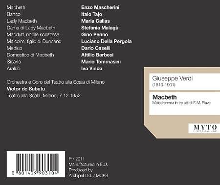 Macbeth: Callas, Mascherini: Amazon.es: Música