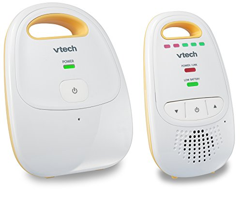 VTech DM111 Audio Baby Monitor with up to 1,000 ft of Range, 5-Level Sound Indicator, Digitized Transmission & Belt ()