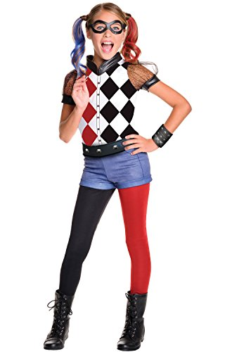Rubie's Costume Kids DC Superhero Girls Deluxe Harley Quinn Costume, Small