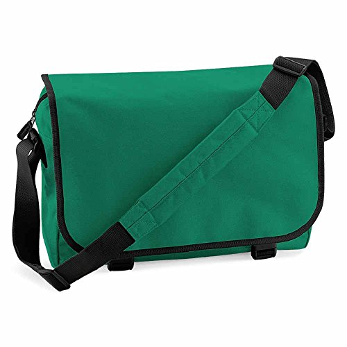 Bagbase unisex BG021KELL messenger bag, Kelly Green, medium