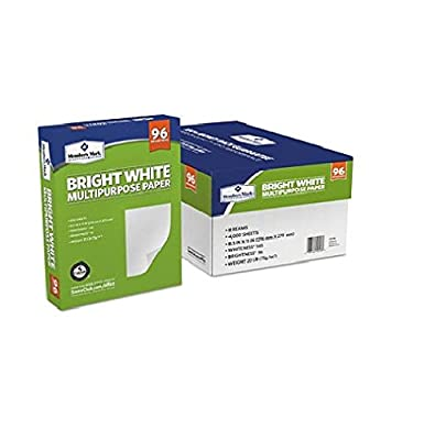 Multipurpose Paper by Member's Mark Bright White with 96 Brightness, 8.5 x 11, 8 Reams, Great for Home or Office (2)