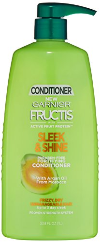 Garnier Fructis Sleek & Shine Conditioner, Frizzy, Dry, Unmanageable Hair, 33.8 fl. oz. (Garnier Fructis Leave)