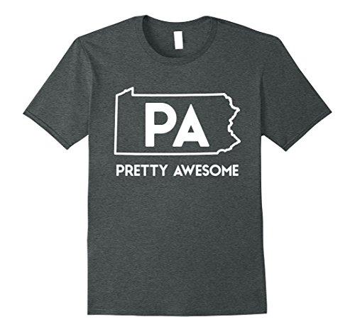 Mens Pa   Pretty Awesome   Pennsylvania Pride T Shirt 2Xl Dark Heather