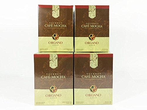 4 box of Organo Gold Gourmet Cafe Mocha,14.9 oz NET,15 sachets