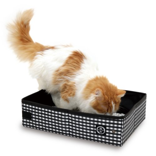 Best portable cat litter box - Necoichi Pop-up Portable Cat Litter Box Always Ready to go!