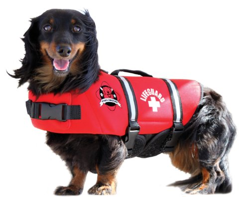 Fido Pet Products Paws Aboard Neoprene Doggy Life Jacket, X-Small, Red