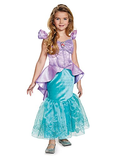 Ariel Prestige Disney Princess The Little Mermaid Costume, X-Small/3T-4T, One Color (Child Costume Ariel Prestige)