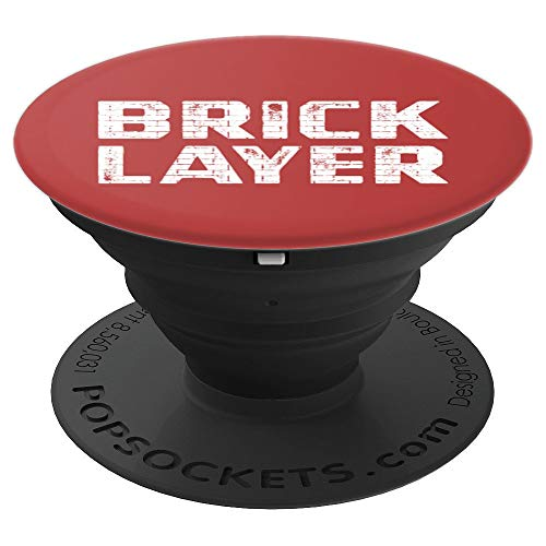 Brick Bricklayer Bricklaying Brickwork - PopSockets Grip and Stand for Phones and Tablets ()