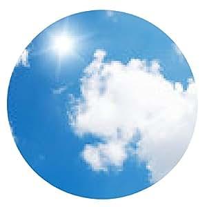 alfombrilla de ratón Sol en el cielo azul. - ronda - 20cm