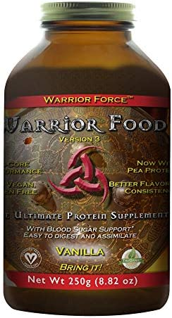 HealthForce SuperFoods Warrior Food – 250 Grams, Vanilla Flavor – All Natural Plant Based Protein Powder- Organic, Non GMO, Vegan, Gluten Free – 12 Servings