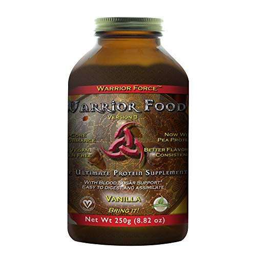 HealthForce SuperFoods Warrior Food - 250 Grams, Vanilla Flavor - All Natural Plant Based Protein Powder- Organic, Non GMO, Vegan, Gluten Free - 12 Servings
