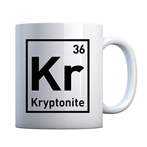 (Mug Kryptonite Large Pearl White Gift Mug)