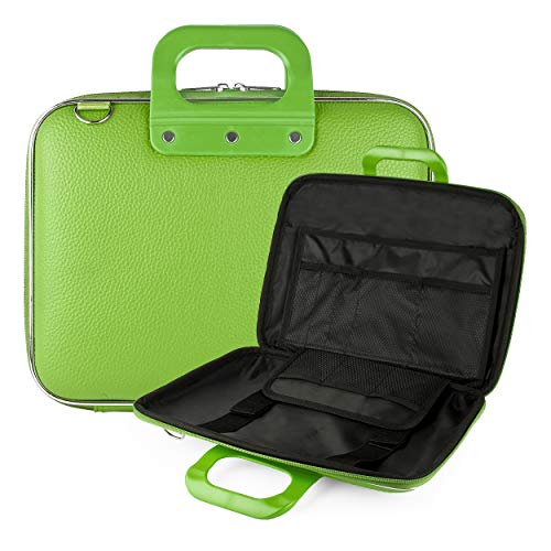 "Vegan Leather Travel Carrier [Green] Optional Shoulder Strap 9"" to 10.5"" Portable DVD Players -  Best Price Center, AS_NBKLEA541_PRTDVD"