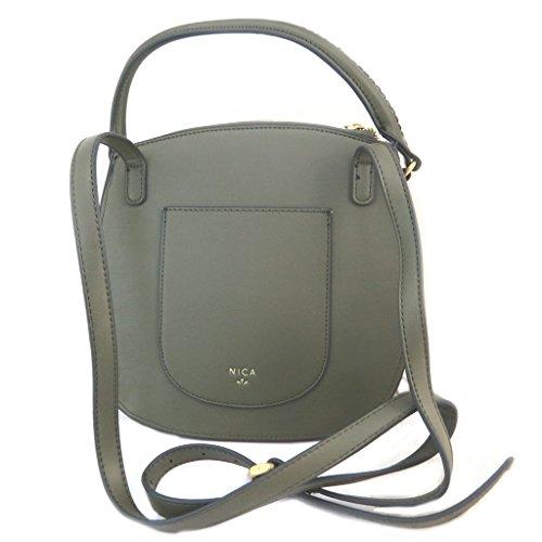 Bolsa creativa 'Nica'verde oliva (2 compartimentos)- 24.5x24x6 cm.