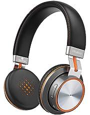 Mindkoo Cancelación de Ruido Activo Auriculares Bluetooth con Micrófono Hi-Fi Deep Bass Auriculares Inalámbricos Sobre el Oído, Cómodo Protein Earpads, 25H de Reproducción (Negro)