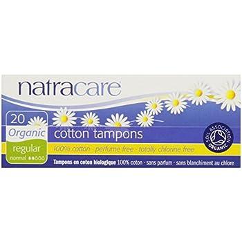20 Organic Cotton Tampon No Applicator Regular- 5 Boxes