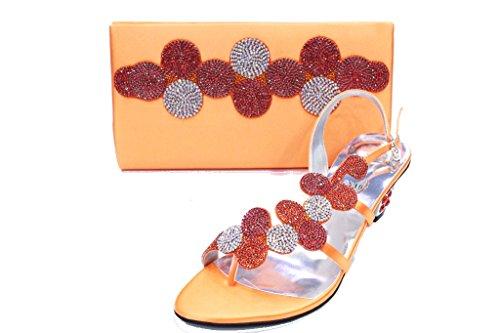 Bag Crystal Orang amp; Ladies Wear Women Size W Bridal Walk amp; amp;W Matching UK Shoes amp;Paras Diamante Mizra Wedding pwq6CU0