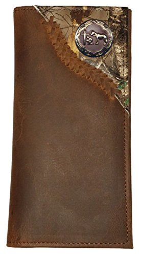 Custom Brown Praying Cowboy Church Camo Corner long wallet