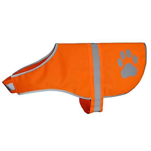 Hiado Dog Reflective Safety Vest High Visibility for Walking Running Hiking to Keep Dogs Visible Safe from Cars and Hunting Accidents Orange L