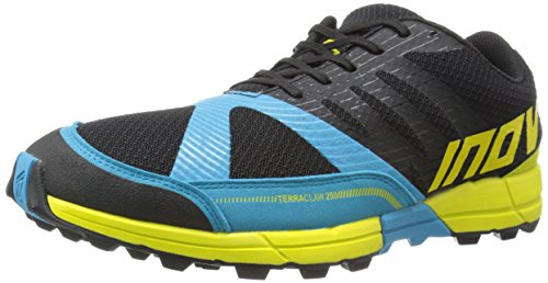 Inov-8 Men's Terraclaw 250 Trail-Running Shoe, Black/Blue/Lime, 10.5 M US