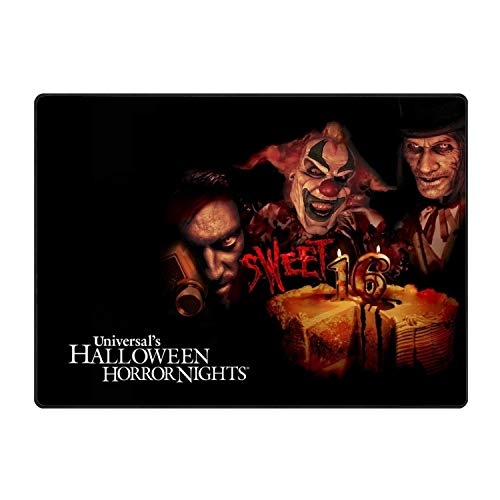 stahhn Cotton Halloween Scary Clown Entrance Rug 31x20 in Shoes Scraper Machine Washable Carpet Brownish Tan]()