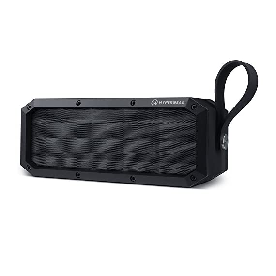 HyperGear Beast XL Rugged Portable IPX6 Waterproof Water Resistant Dustproof Outdoor Indoor Wireless Bluetooth Speakers with Built-in Microphone, Best Loud 30W Bass Stereo Sound for iPhone, Computer 1 ✔️ Made for Adventure With its rugged design, heavy-duty build, and IPX6 certification waterproof, the Beast XL is the perfect travel-friendly sound system. It can withstand splashes, pressurized jets & waves of water. (Product Should Not Be Submerged) ✔️ Double-Duty Speakerphone The integrated Wireless Bluetooth noise-cancelling microphone and touch-friendly controls let you quickly take and make calls with the push of a button. ✔️ Rugged Perfect for Active Lifestyles & Outdoor Enthusiasts Travel light and leave the charger at home. The 6600mAh battery provides up to 16 hours of wireless playtime on a single charge!