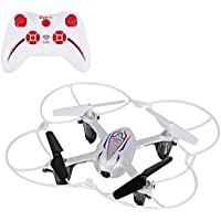 RC Quadcopter, YOKKAO Syma X11C Mini Drone 2.4G Remote Control 4CH 360 Degree 3D Eversion Helicopter with 2.0MP Camera/ SD Card/ Colorful Flashing LED Lights