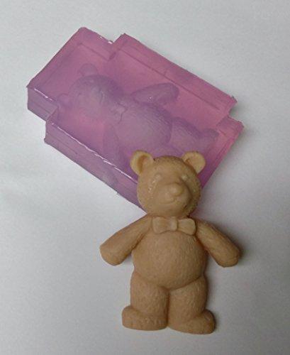 Clear Silicone Mold Bow Tie Teddy Bear Handmade Supply