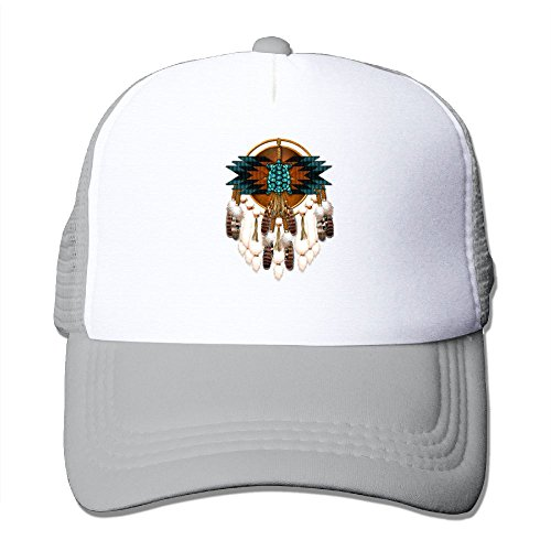 (Trucker Mesh Hat Baseball Caps Native American Feather 3 Adjustable Sport Hats)
