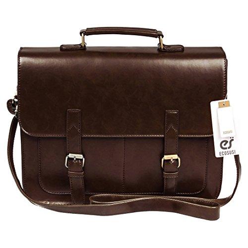 ECOSUSI Schultaschen Aktentasche Umhängetasche Laptoptasche 14