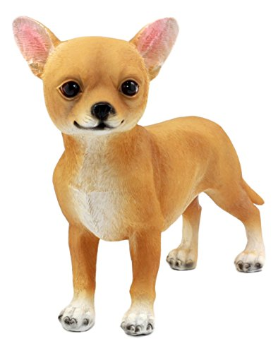 "Ebros Adorable Chiquito Chihuahua Dog Statue 7.75"" L Lifelike Short Hair Deer Head Chihuahua Reproduction Collectible"