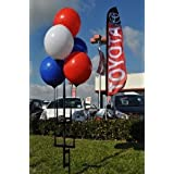 Reusable Balloon Cluster Kit w/ Ground Spike - Red / White / Blue