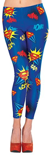 Rubie's 38027 Women's DC Comics Supergirl Leggings, Standard/One Size, Multicolor