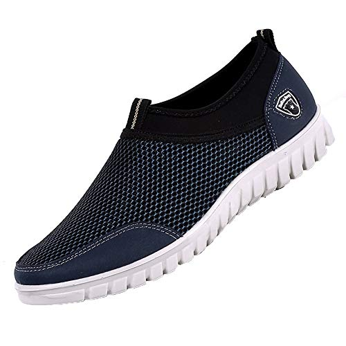 Sneakers up Comfortable Unisex Men blue Footwears Casual Breathable Lace dark Mesh Mesh Shoes Shoes Loafers TqTYZwA