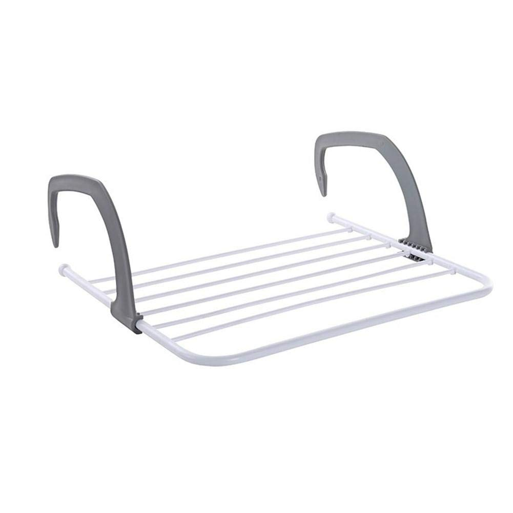Aolvo Wet Clothes Drying Rack, Stainless Steel Wall Mount Laundry Drying Rack, Telescopic Portable Fold Away Clothes Drying Rack White - Perfect the Screen Balcony, Window, Outdoor, Indoor