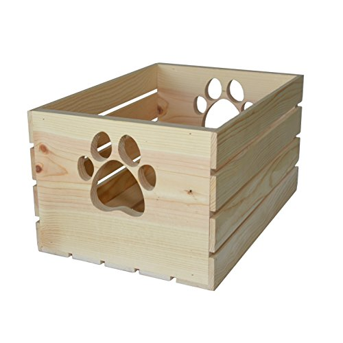 MPI WOOD Crate with Paw Handle ()