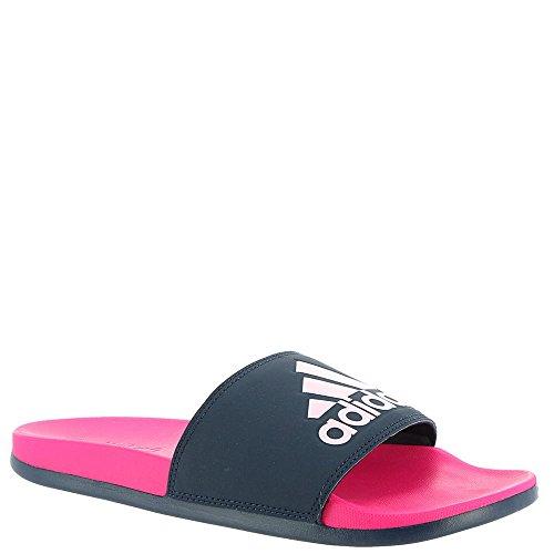 Adidas Kvinners Adilette Komfort Lysbilde Sandal, Damp Grå Metallic / Damp Grå Metallic / Sort, 11 M Oss Sjokkere Rosa / Kollegialt Navy / Aero Rosa