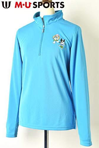 [MUスポーツ] ハーフジップシャツ レディース ゴルフ M(40) ターコイズブルー(071) B07Q34NM9W