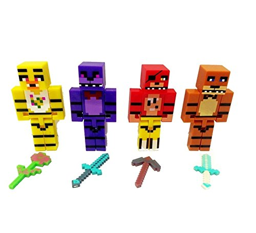 minecrafted Five Nights At Freddy `sフナッフ4pcs建物ブロックKids Figureおもちゃ