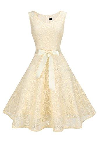 The Aliby Women Women Floral Lace Bridesmaid Party Dress Short Prom Dress V Neck