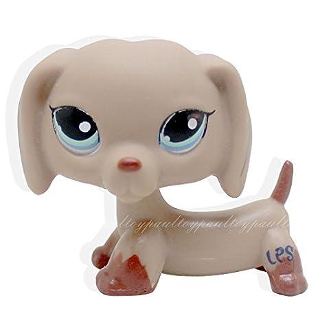 Littlest Pet Shop Collection LPS #1211 Blue Eyes Tan Daschund Dog Toy