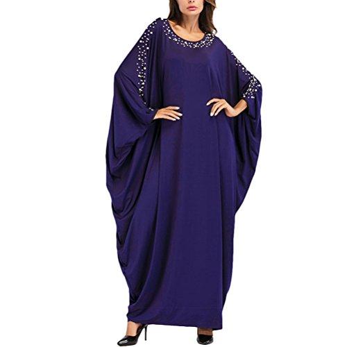 Zhuhaitf Elegant Boho Style Turkish Kaftans Caftan Dress Abaya for Women Long Fashion