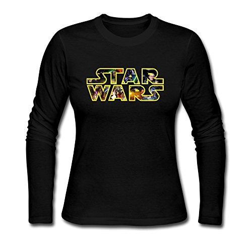 Price comparison product image Seico Women Star Wars Logo Tees Black Size S