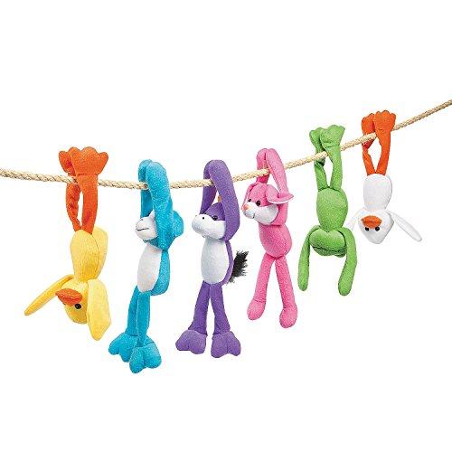 Fun Express Plush Long Arm Easter Assortment - 12 Pieces