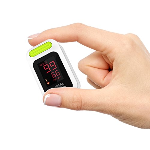 NURSAL Fingertip Pulse Oximeter Blood Oxygen Saturation Monitor with Carrying Case & Lanyard, White by NURSAL (Image #7)
