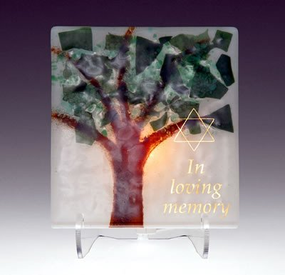 Electric Yarzheit Candle Sitting Shivah Jewish Funeral Memorial Candle Tree of Life (Designs Beames)